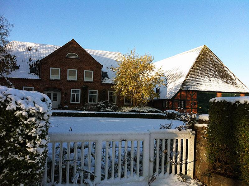 Ferienhof Lüders-Köneke auf Fehmarn im Winter / Frühjahr