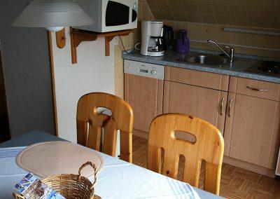 Kompakte Küchenzeile im Appartement