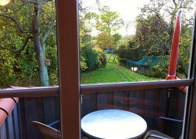 Balkon zur West- bzw. Gartenseite