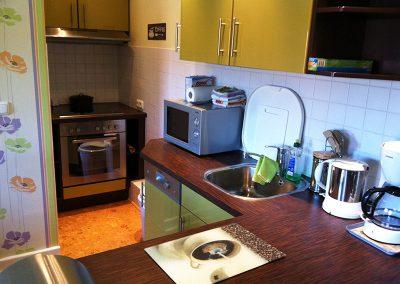 Ferienwohnung mit sehr gut ausgestattete Küche