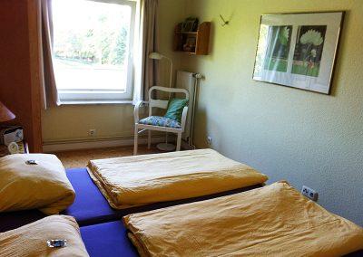 Schlafraum mit Doppelbetten