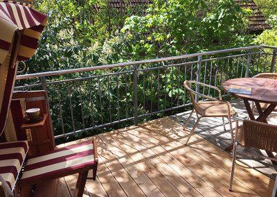 Balkon in der Ferienwohnung