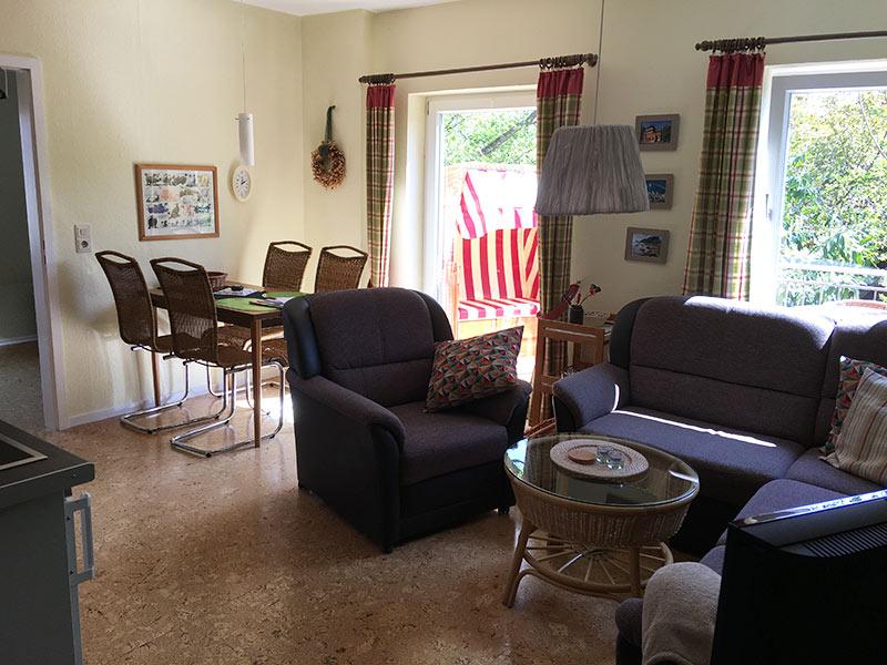 Ferienwohnung 2- Wohnzimmer