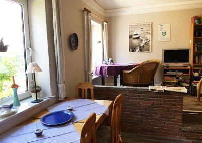 Essecke im Frühstücks- und Aufenthaltsraum